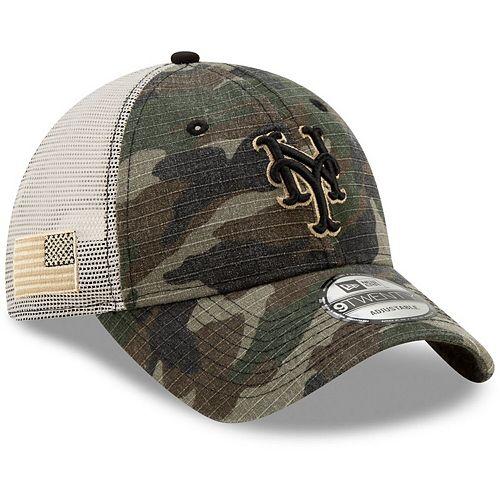 Men's New Era Camo New York Mets Honor Trucker 9TWENTY Adjustable Hat