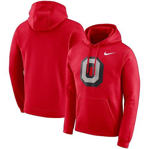Men's Nike Scarlet Ohio State Buckeyes Vault Club Fleece Pullover Hoodie