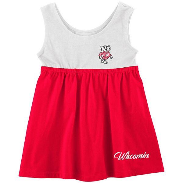 Girls Newborn & Infant Colosseum Red Wisconsin Badgers Berlin Back Bow Cutout Dress