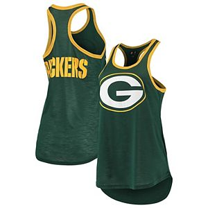 Women's G-III 4Her by Carl Banks Green Green Bay Packers Tater Tank Top