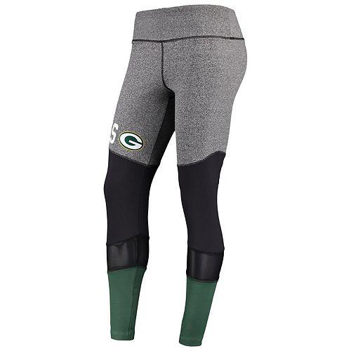 Women's G-III 4Her by Carl Banks Gray/Black Green Bay Packers High Stepping Leggings