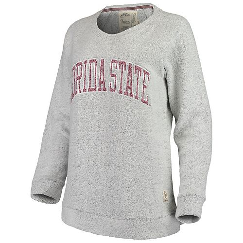 Women's Pressbox Gray Florida State Seminoles Helena Comfy Sweatshirt