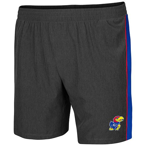Men's Colosseum Charcoal Kansas Jayhawks Spring Training Lined Running Shorts