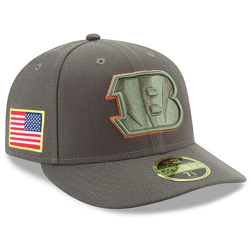 Men's New Era Olive Cincinnati Bengals 2017 Salute To Service Low Profile 59FIFTY Fitted Hat