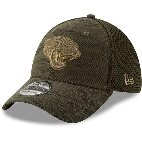 Jacksonville Jaguars New Era Camo Fronted 39THIRTY Flex Hat - Olive