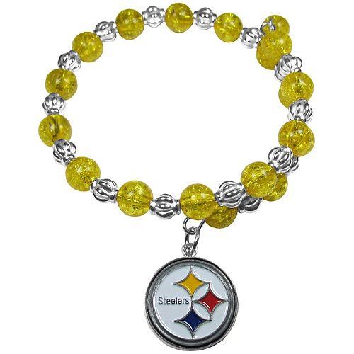 Women's Pittsburgh Steelers 400 Degrees Beaded Bracelet
