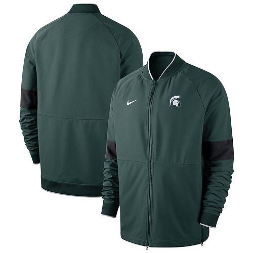 Men's Nike Green Michigan State Spartans 2019 Sideline Performance Full-Zip Jacket