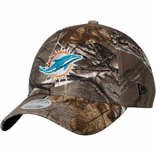 Women's New Era Realtree Camo Miami Dolphins Lightly Structured 9TWENTY Adjustable Hat