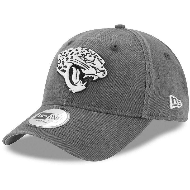 Men's New Era Charcoal Jacksonville Jaguars Sagamore Relaxed 49FORTY Fitted Hat. Size: Large. Grey