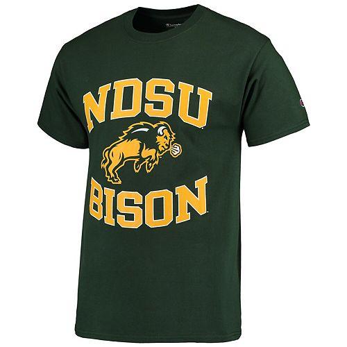 Men's Champion Green NDSU Bison Tradition T-Shirt
