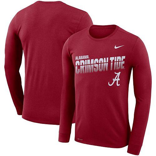 Men's Nike Crimson Alabama Crimson Tide Sideline Legend Long Sleeve Performance T-Shirt