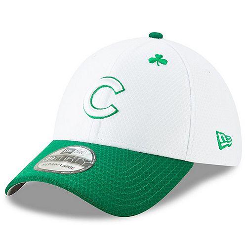 Men's New Era White/Kelly Green Chicago Cubs 2019 St. Patrick's Day 39THIRTY Flex Hat