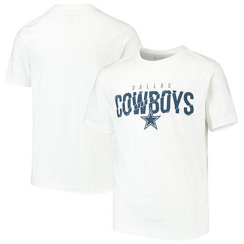 Youth White Dallas Cowboys Cyclone T-Shirt