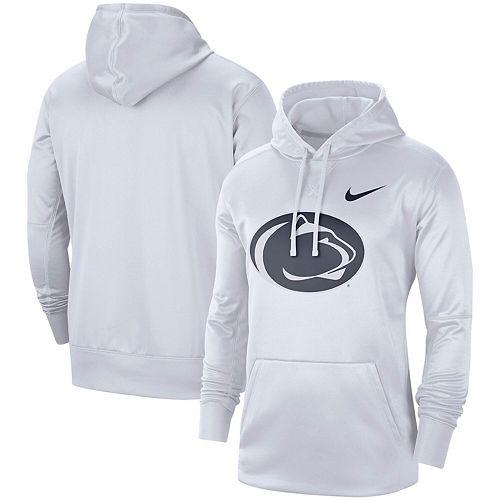 Men's Nike White Penn State Nittany Lions Circuit Logo Performance Pullover Hoodie