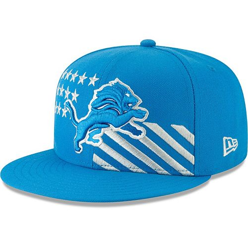 Detroit Lions New Era 2019 NFL Draft On-Stage Official 59FIFTY Fitted Hat - Blue