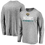 Men's Majestic Gray Jacksonville Jaguars Iconic Engage Stack Raglan Long Sleeve T-Shirt