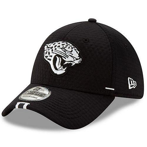 Men's New Era Black Jacksonville Jaguars 2019 NFL Training Camp 39THIRTY Flex Hat