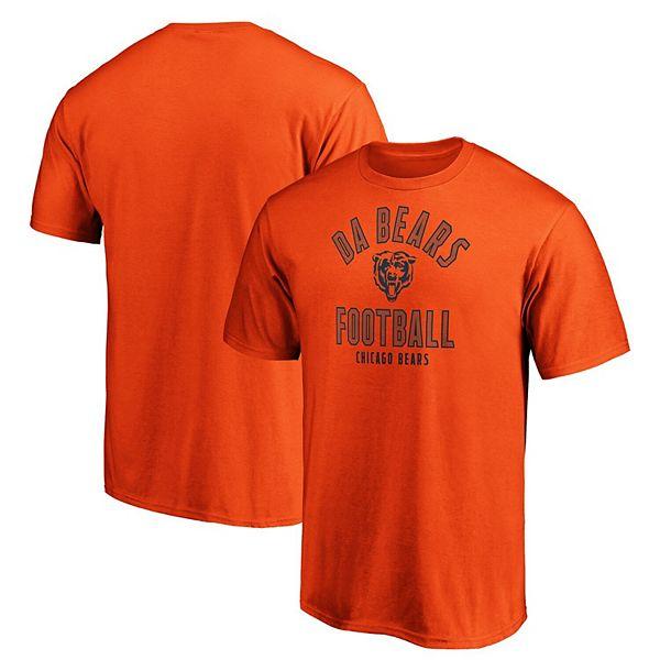 Men's Majestic Orange Chicago Bears Iconic Hometown Arc Logo T-Shirt