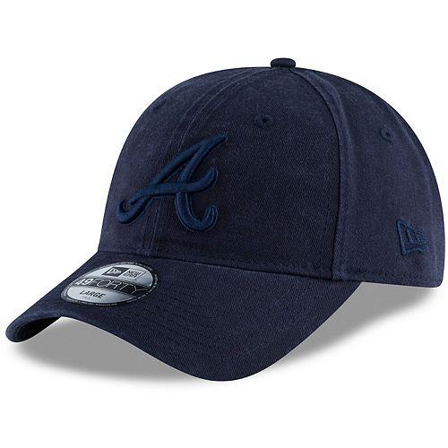 Men's New Era Navy Atlanta Braves Core Tonal 49FORTY Fitted Hat