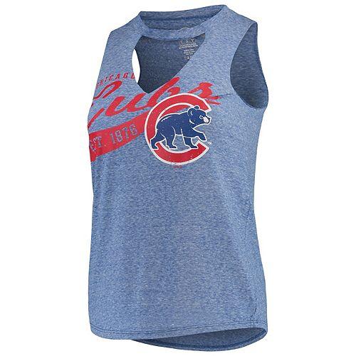 Women's Concepts Sport Royal Chicago Cubs Squad Keyhole Tank Top