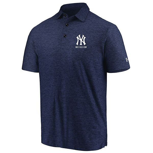 Men's Under Armour Navy New York Yankees City Underline Performance Polo
