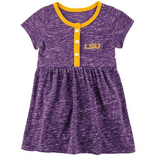 Girls Newborn & Infant Colosseum Purple LSU Tigers Nuess Henley Dress