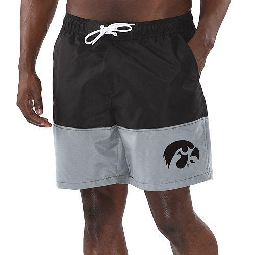 Men's G-III Sports by Carl Banks Black Iowa Hawkeyes College Anchor Volley Swim Short