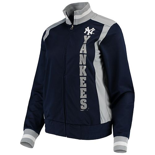 Women's G-III 4Her by Carl Banks Navy New York Yankees On Deck Full-Zip Track Jacket