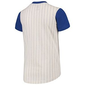 Youth Cream/Royal Chicago Cubs Cooperstown Collection Heavy Hitter V-Neck T-Shirt