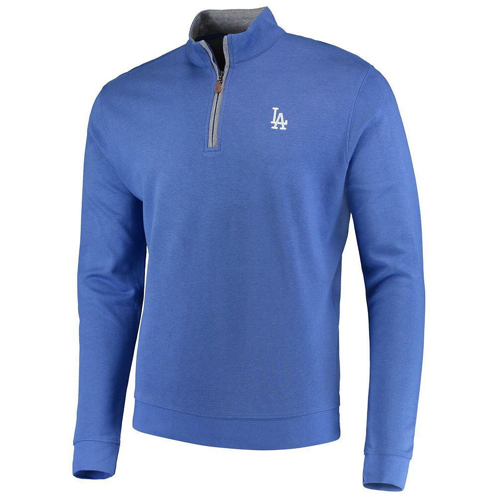 Men's johnnie-O Royal Los Angeles Dodgers Sully Tri-Blend Quarter-Zip Pullover Jacket
