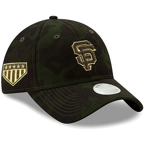 San Francisco Giants New Era Women's 2019 MLB Armed Forces Day 9TWENTY Adjustable Hat - Camo