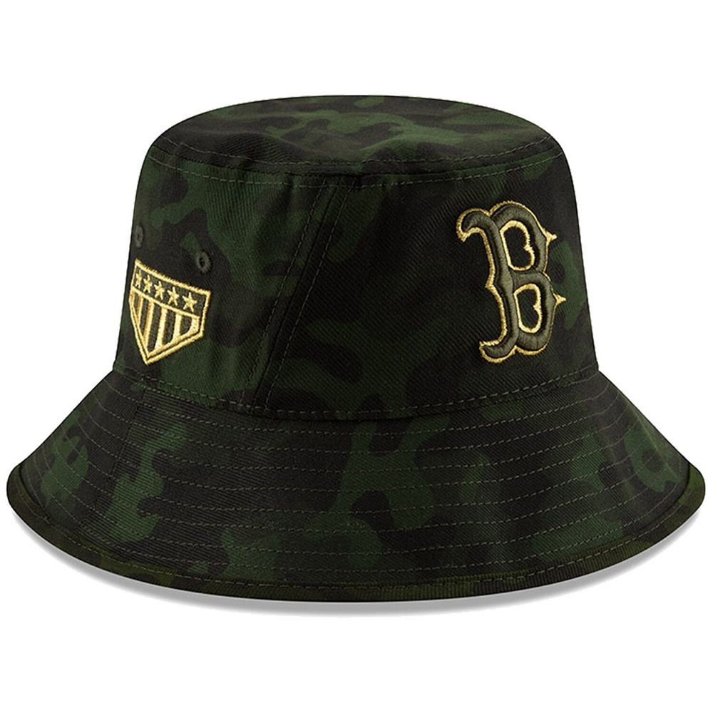 Boston Red Sox New Era 2019 MLB Armed Forces Day Bucket Hat - Camo