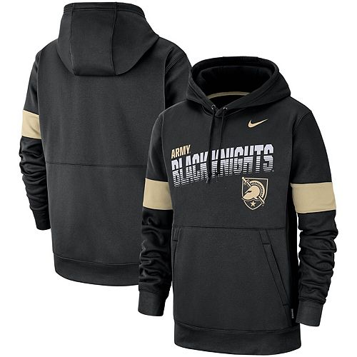 Men's Nike Black Army Black Knights 2019 Sideline Therma-FIT Perfromance Hoodie