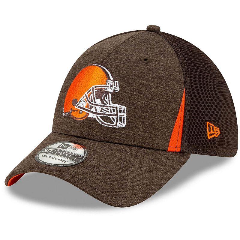 Men's New Era Brown Cleveland Browns Slice Neo 39THIRTY Flex Hat, Size: Medium/Large