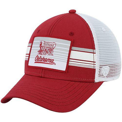 Oklahoma Sooners Top of the World Breeze Trucker Adjustable Hat - Crimson