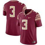 Men's Nike #3 Garnet Florida State Seminoles Game Jersey