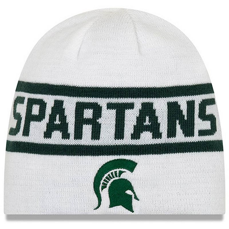 Men's New Era Green Michigan State Spartans Reversible Knit Beanie
