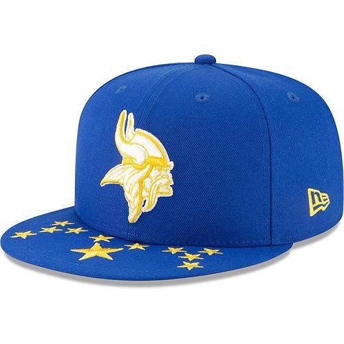 Minnesota Vikings New Era 2019 NFL Draft Spotlight 9FIFTY Adjustable Snapback Hat  Blue