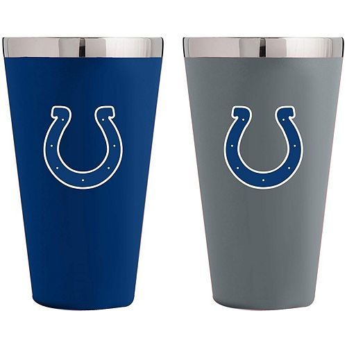 Indianapolis Colts Team Color 2-Pack Stainless Steel Pint Glass