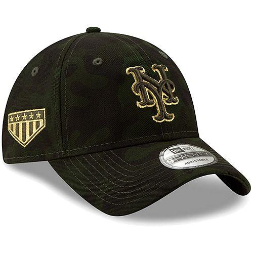New York Mets New Era 2019 MLB Armed Forces Day 9TWENTY Adjustable Hat - Camo