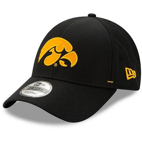 Men's New Era Black Iowa Hawkeyes Dash 9FORTY Adjustable Hat
