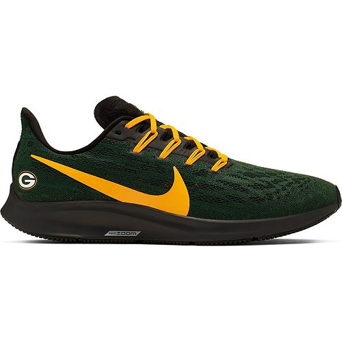 Men's Nike Green/Gold Green Bay Packers Air Zoom Pegasus 36 Running Shoes