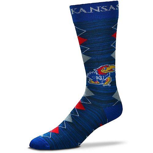 Men's For Bare Feet Kansas Jayhawks Fan Nation Crew Socks