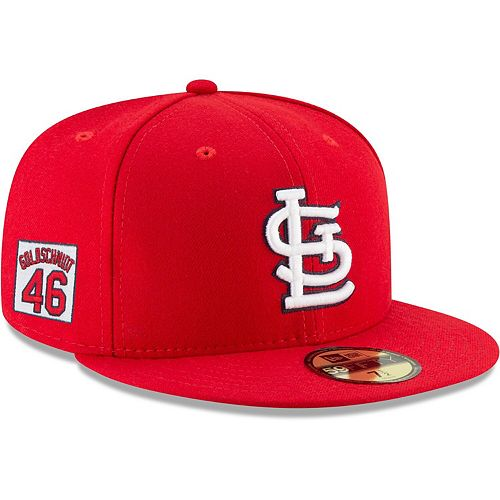 Men's New Era Paul Goldschmidt Red St. Louis Cardinals Player Patch 59FIFTY Fitted Hat