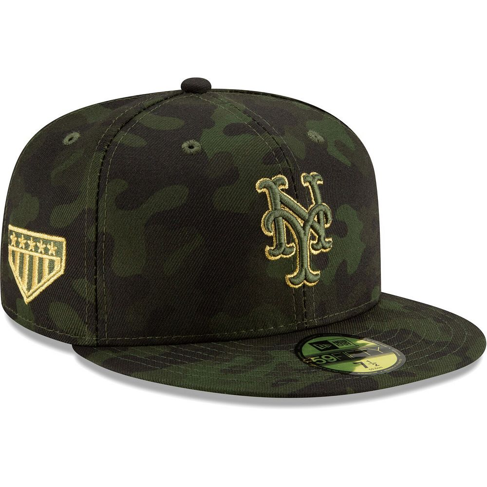 New York Mets New Era 2019 MLB Armed Forces Day On-Field 59FIFTY Fitted Hat - Camo