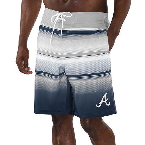 Men's G-III Sports by Carl Banks Navy Atlanta Braves Defense Swim Trunks