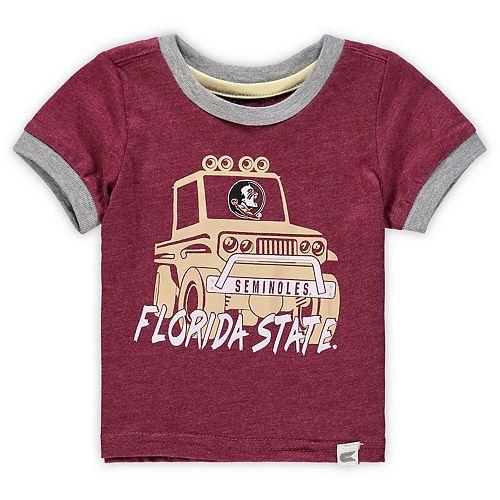 Newborn & Infant Colosseum Garnet Florida State Seminoles Mud Flap Ringer T-Shirt