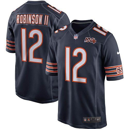 Men's Nike Allen Robinson Navy Chicago Bears 100th Season Game Jersey