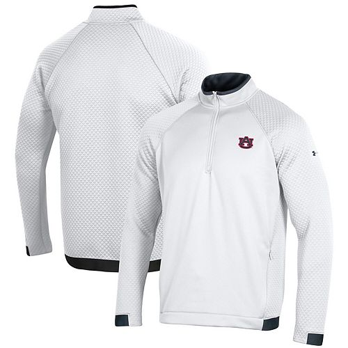 Auburn Tigers Under Armour HD Quarter-Zip Pullover Performance Jacket - White