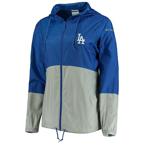 Women's Columbia Royal/Gray Los Angeles Dodgers Flash Forward Windbreaker Jacket